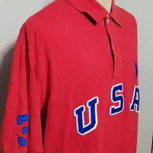 Polo Ralph Lauren red white blue USA vintage polo